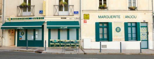 Façade l'hôtel Marguerite d'Angers, hôtel face au château d'Angers